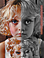 sad with my doll by lahona