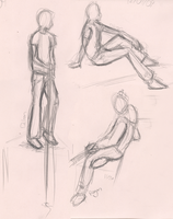 Figure drawing 11-30+12-01 by PirateQueenErin