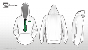 The Hoodie With the Tie With the Stripes by Spightful