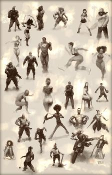 Figurative Sketch Compilation by MrDream