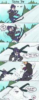 Skiing Trip by Kipsiih