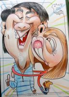 Love Caricature 17 by aaronphilby