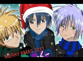 Anime Christmas Drawing 2011 by Dark-Angel15-2010