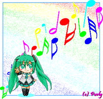 Pixelated Chibi - Hatsune Miku by Purly