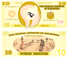 Fluttershy 10 bits bill by cradet