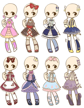 Loli Dresses Adopts 4 :CLOSED: by LukasB-adopts