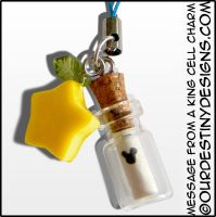 Message From A King Cell Phone Charm V2 by OurDestinyDesigns