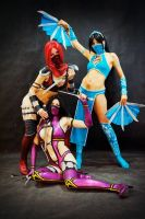 Skarlet,Mileena and Kitana by Nemu013