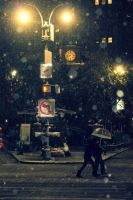 first Snow Union Square 11/7/12 by KS85