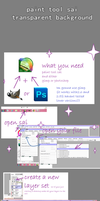 paint tool sai transparent bg tutorial by CarefulKoala