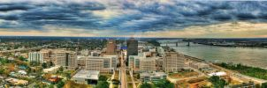 Downtown Baton Rouge by happygilmo07