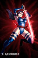 PSYLOCKE fan art by gaudiamo