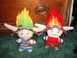 Jak and Daxter plushies by meganichan04