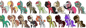 More Pony Adopts by IIbukiMioda