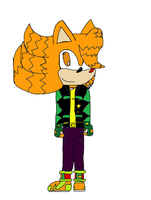 Striker the hedgehog with color (not sure yet.) by Nightcaster460