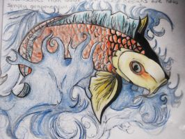 Koi Fish Illustration by Runs-with-foxes