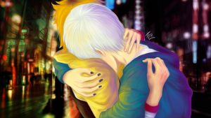 Hide and Kaneki Fanart by ThaYuu-chan