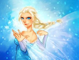 Frozen: Queen Elsa by DiWine-Waro