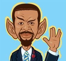 Mirror Universe Obama Spock by Stevenartist