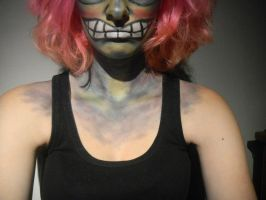 Crazy Goblin neck Makeup by XxXTABSXxX