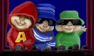 Chipmunks At The Movies..... by Miss-A-sketches