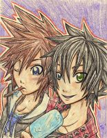 Kirai and Sora by superyummycupcakes