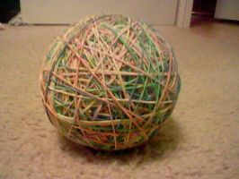 ball of rubber bands by loveevilflippy