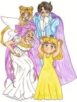 Moon Family In color by usagisailormoon20