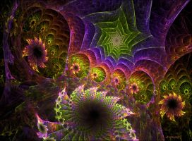 Psychedelic Garden by CopperScaleDragon