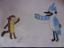 Rigby y mordecai. by ingart15