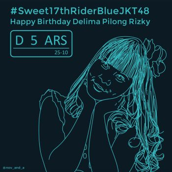 #Sweet17thRiderBlueJKT48 by novandaludwigroger