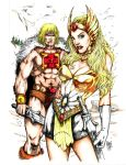 The Twins of Eternia! Colored with color pencils. by ksmith3620