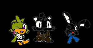 BabyShadowFreddy,ShadowBonnie,And NightmareChica!! by Koopalingsfnafsuperi