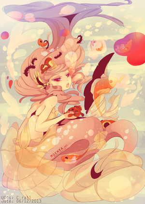 Illustration Corail by Moewxa