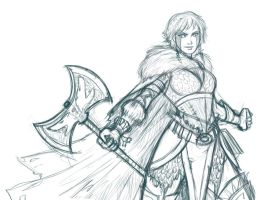 Astrid sketch again! by iara-art