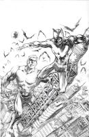 Cover pencils - FRANKENSTEIN vs. DRACULA '66 by RONJOSEPH-ARTIST