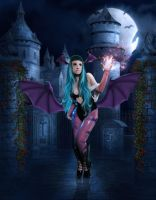 Morrigan Aensland Cosplay by Cassiasparkle