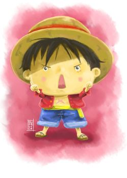 Digipaint Exercise - Luffy by HNDRNT26