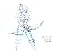 Catti-brie the Archer by CurlyJul