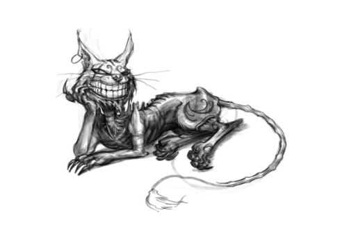 Cheshire Cat Reclines by SpicyHorseOfficial