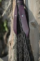 Purple and Black Flogger 3 by Blackthornleather