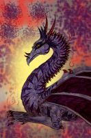 Purple dragon for DarkSaber13 by chaosqueen122