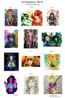 Llyona's Art of 2015 by DragonFang17