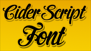 Cider Script FONT by HeyHelleen