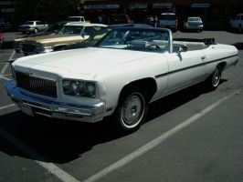 1975 Chevrolet Caprice Classic White Convertible by RoadTripDog