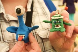 Plasticine Aliens by mikedaws