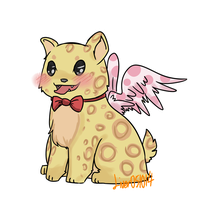 [CLOSED] 10pt-SALE 002 Pinkwing Leopard Critter by OkayIlie