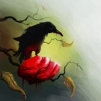 Raven feathered grief by Mechanubis