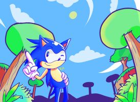 A new view of sonic by sonicfandude1