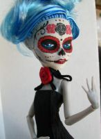 Monster High Custom Ghoulia Day of the dead by AdeCiroDesigns